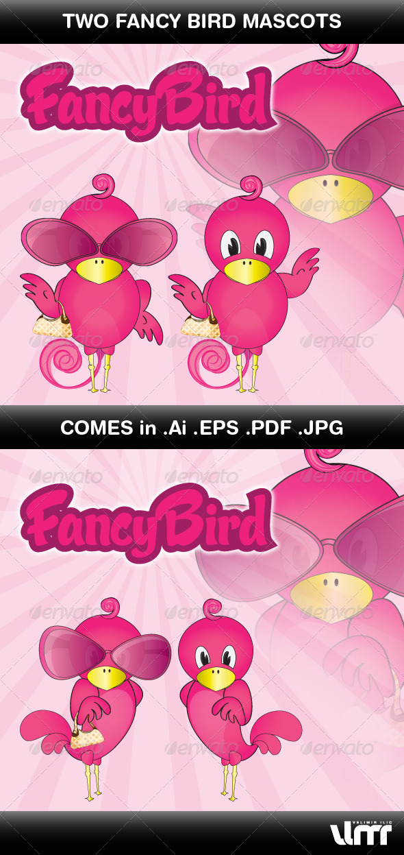 GraphicRiver Fancy Bird Mascot 3449764