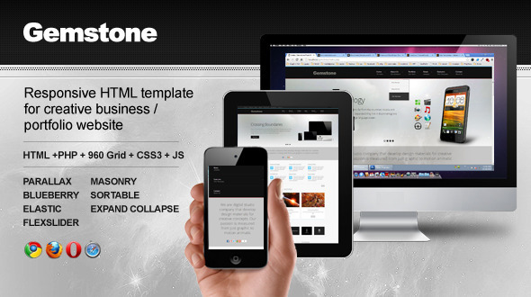 Gemstone - Responsive Business Website 2.0 - Creative Site Templates