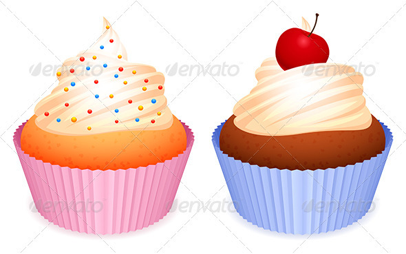 GraphicRiver Cupcakes 3464794