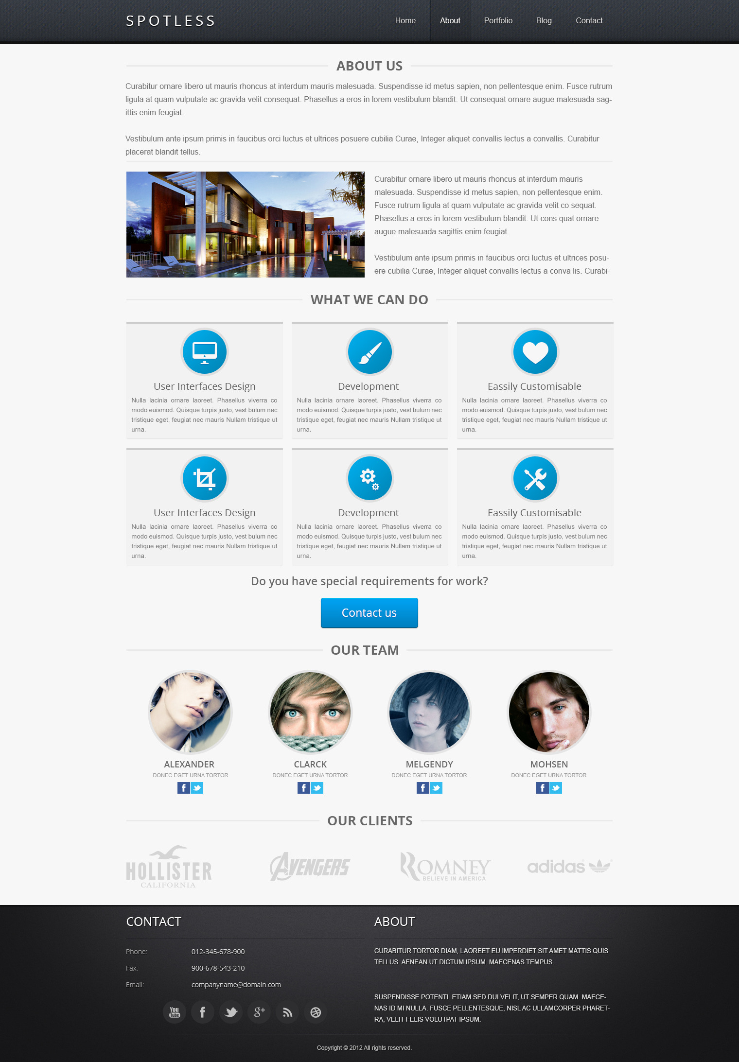 Spotless - PSD Template