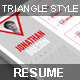 Triangle Style Resume - GraphicRiver Item for Sale
