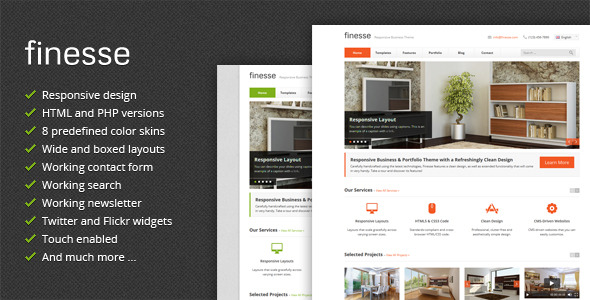 Finesse - Responsive Business HTML Template