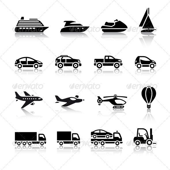 GraphicRiver Set of Transport Signs 3470005