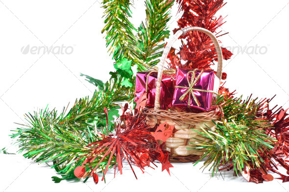 Christmas decoration, isolated - Stock Photo - Images
