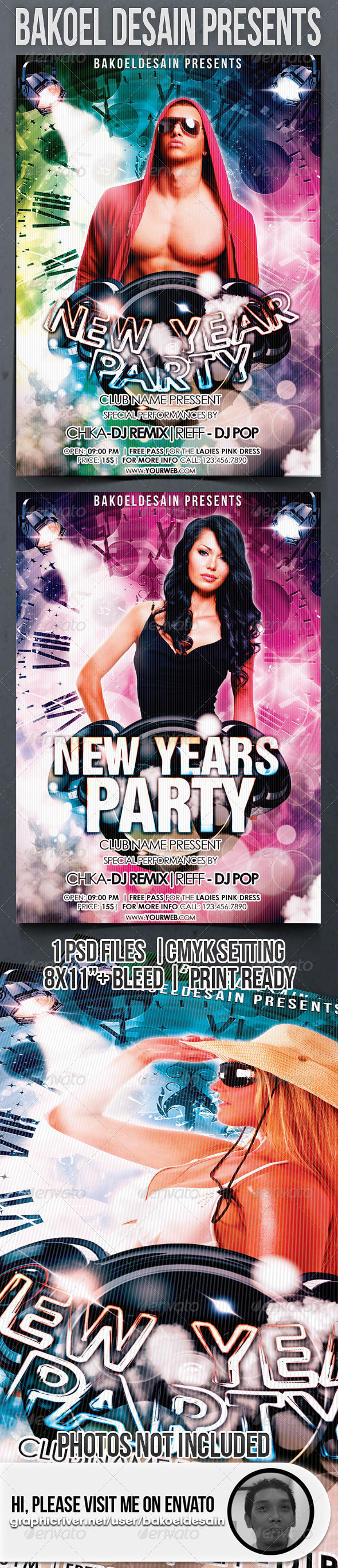 New Years Party Flyer - Clubs &amp; Parties Events