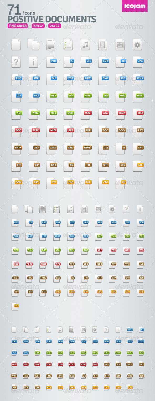 71 Positive Documents Icons - Web Icons