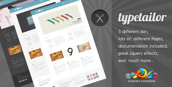 Typetailor - Pure Minimal Html Template - Creative Site Templates