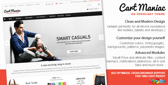 ThemeForest Cart Maniac HTML5 Responsive Theme 3471393