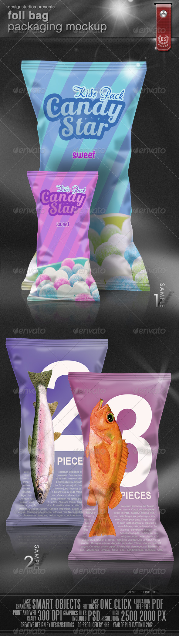 GraphicRiver Foil Bag Packaging Mock-Up 3471397