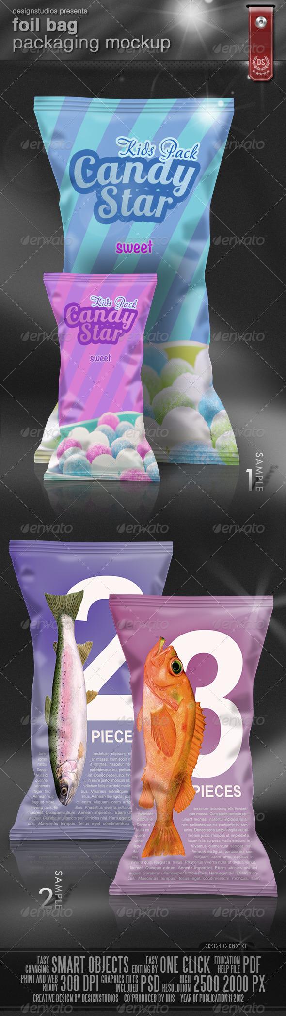 GraphicRiver Foil Bag Packaging Mock-Up 3471397