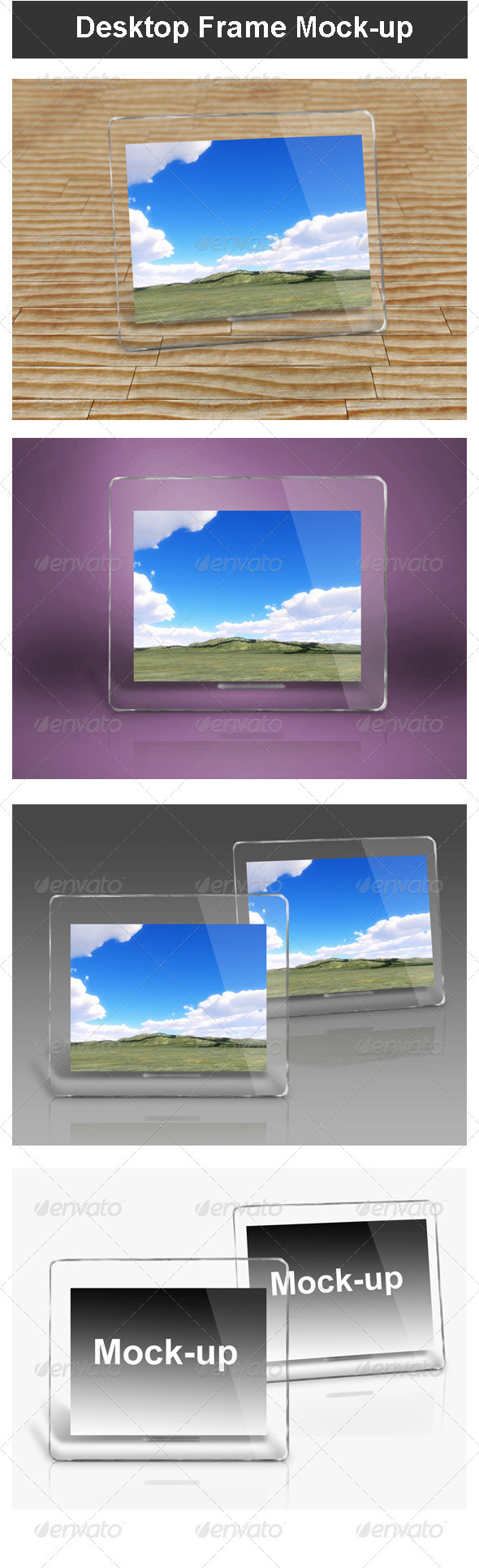 GraphicRiver Desktop Frame Mock-up 3471403