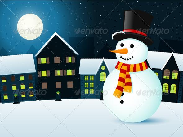 GraphicRiver Winter Town 3423793