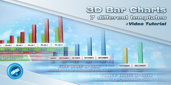 After Effects Project - VideoHive 3D Bar Chart Templates 372230