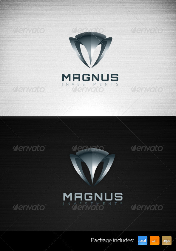 Magnus Investment Business Logo Template - Letters Logo Templates
