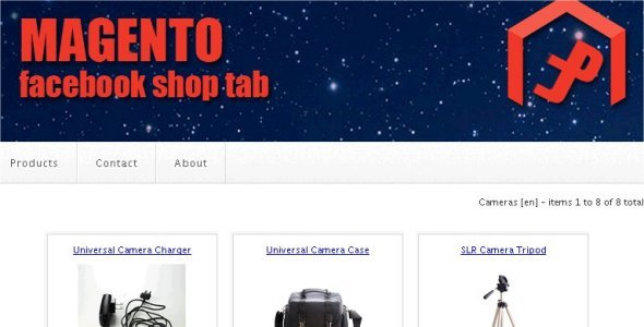 Magento Facebook Butiko Tab - WorldWideScripts.net Item por Vendo