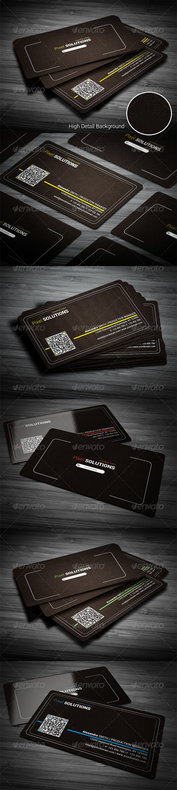 Corporate Line Business Card - Corporate Business Cards