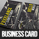 Grunge Freelance Business Card - GraphicRiver Item for Sale