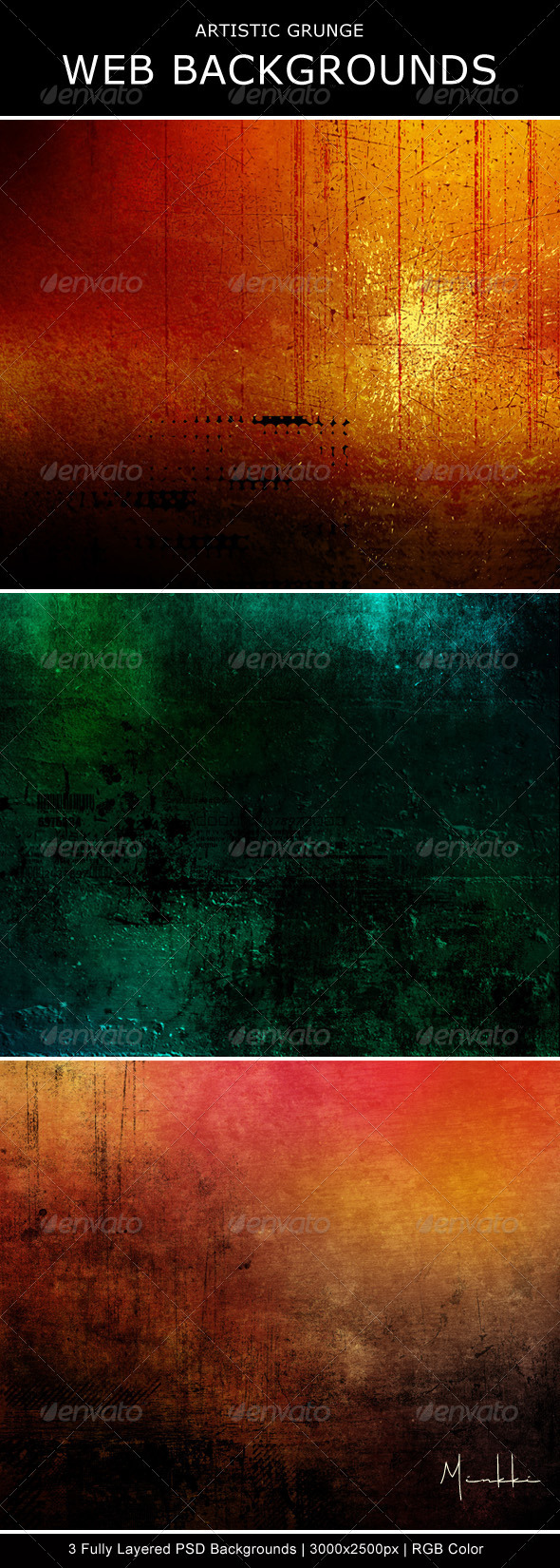 Artistic Grunge Web Backgrounds - Backgrounds Graphics