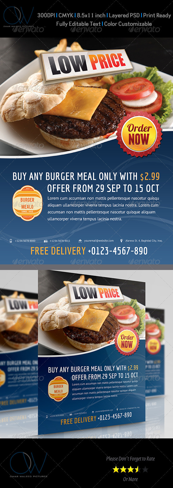 GraphicRiver Burger Flyer 3473442