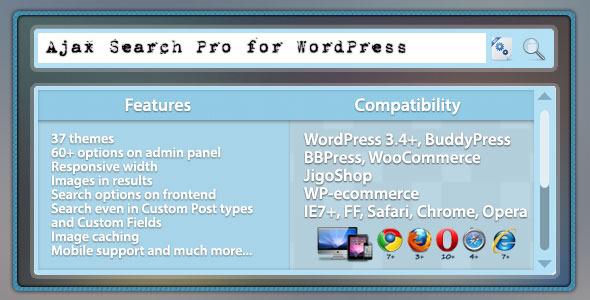CodeCanyon Ajax Search Pro for WordPress 3357410