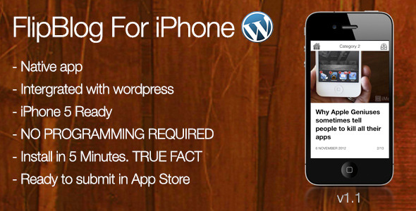 CodeCanyon FlipBlog Iphone For Wordpress 3371002