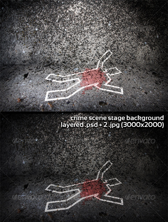 Crime Scene Stage Background - Backgrounds Graphics