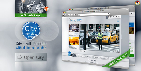 ActiveDen City Full Template with All Items Included 372133