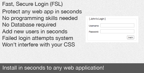 Fast, Secure Login (FSL) Quick Login Integration - CodeCanyon Item for Sale