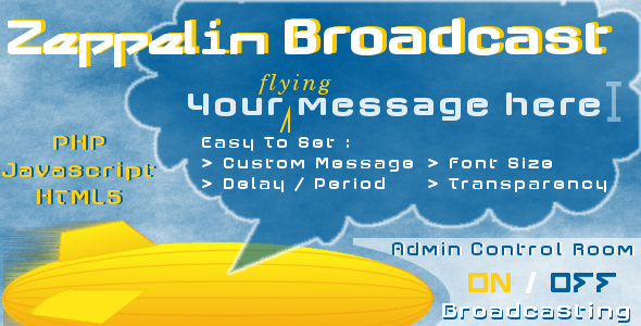 CodeCanyon Zeppelin Broadcast Instant Messages 3475371
