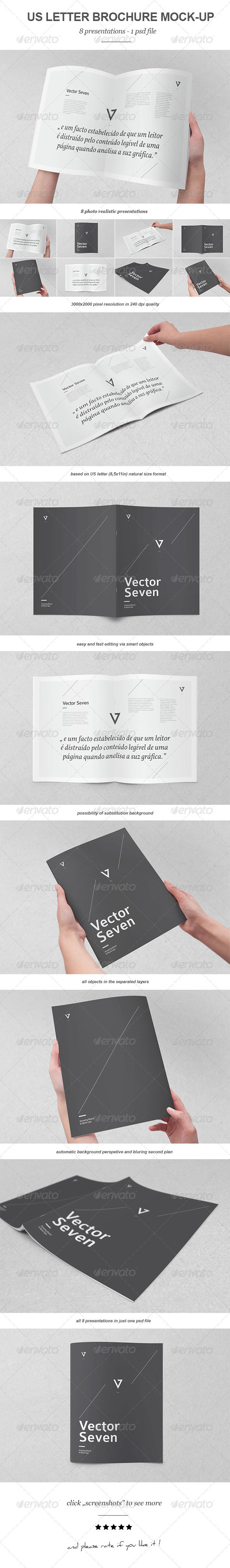 GraphicRiver US Letter Brochure Mock-up 3457163