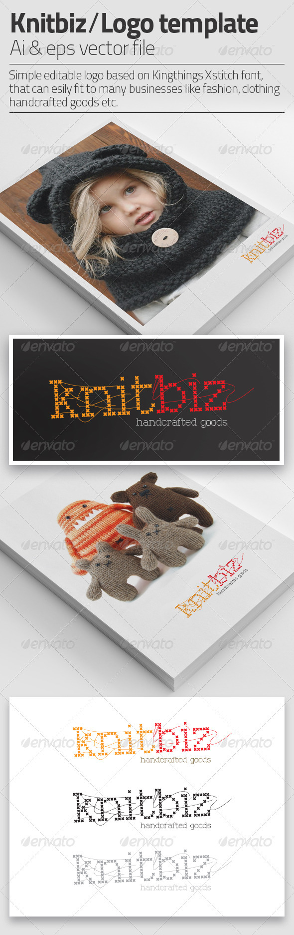 I Knit Love | Logo Template  - Letters Logo Templates