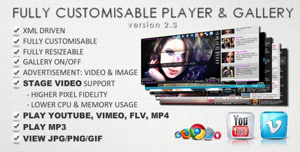 ActiveDen Customisable Vimeo YouTube Flv Video Gallery 2168573