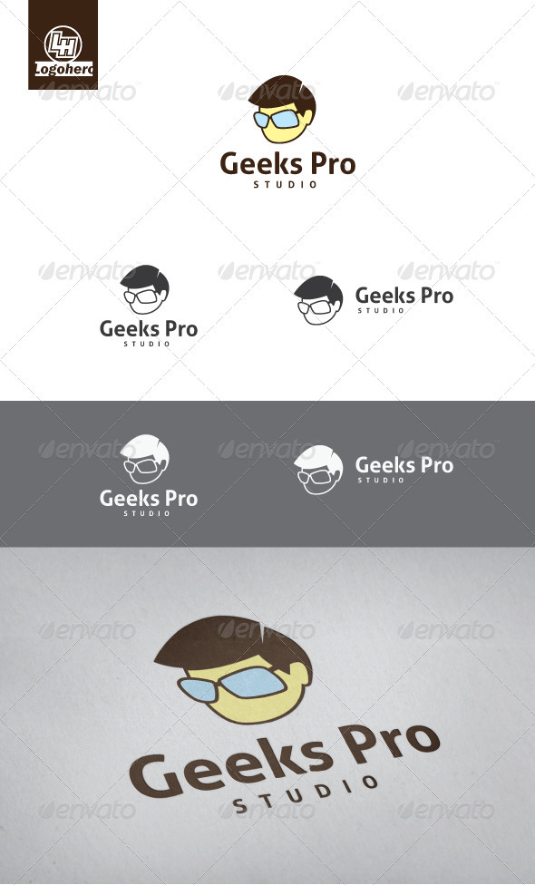 Geek Pro Logo Template - Humans Logo Templates