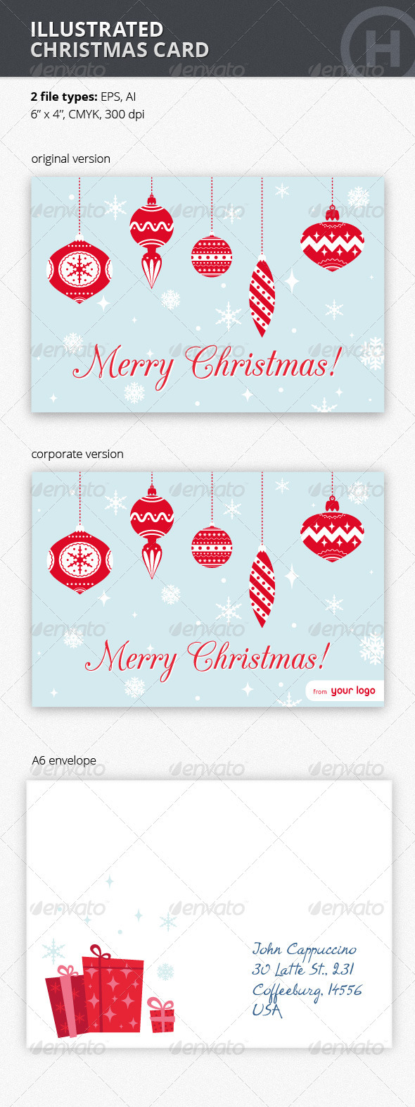 GraphicRiver Illustrated Christmas Card 3457275
