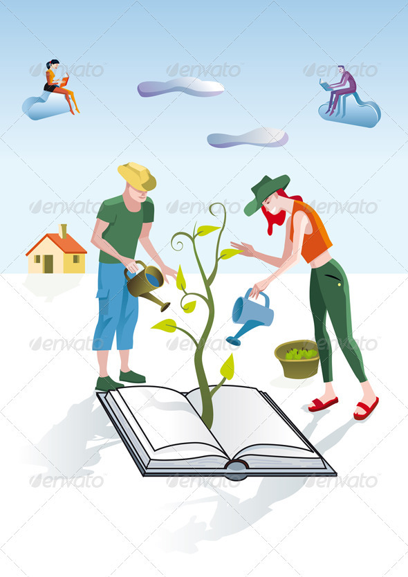 GraphicRiver Books Gardeners 3477671