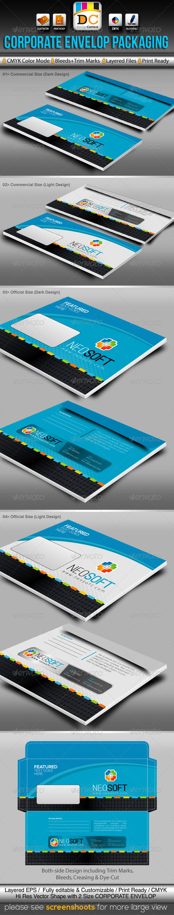 GraphicRiver NeoSoft Official Envelop Packaging 3477756