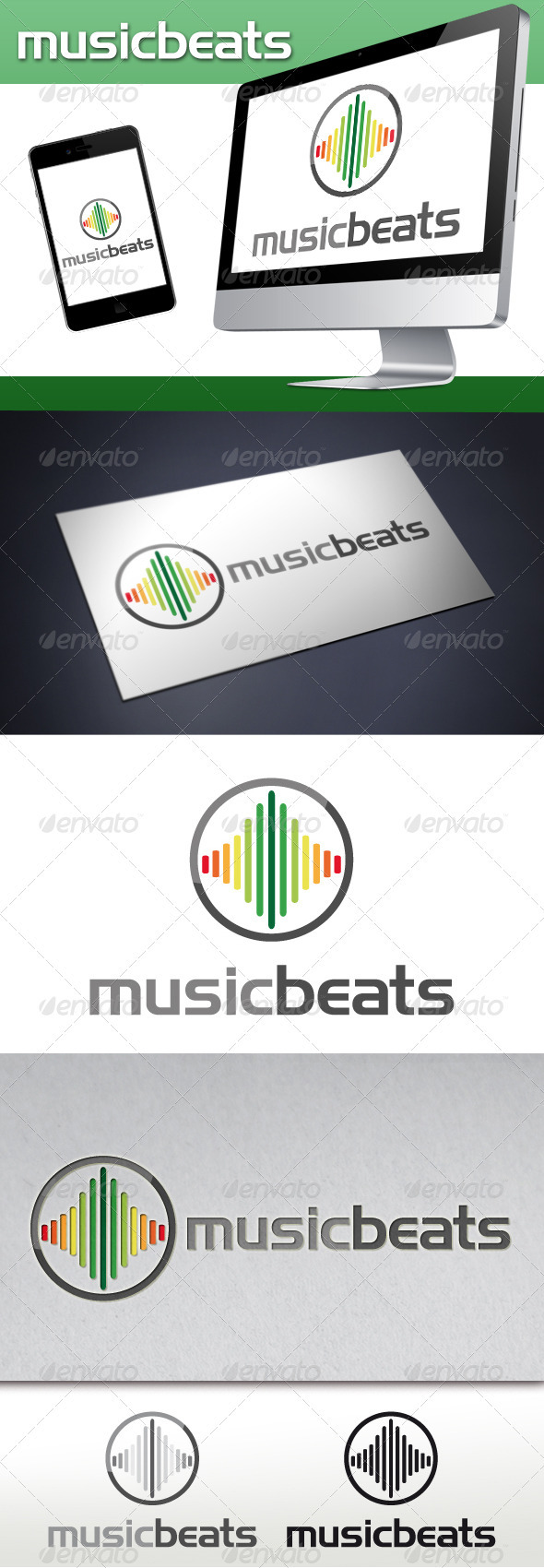 GraphicRiver Music Beats Logo 3470991