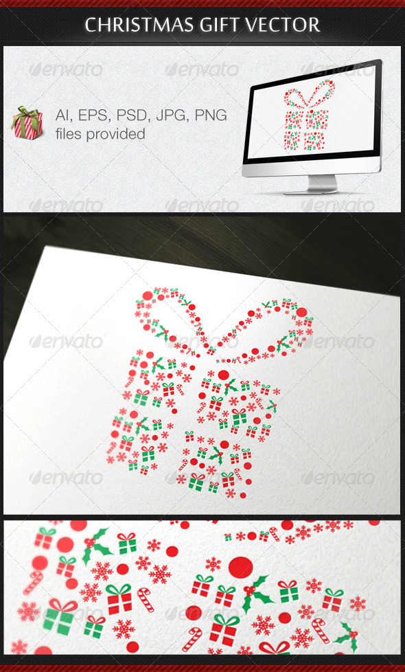 Christmas Gift Vector - Christmas Seasons/Holidays