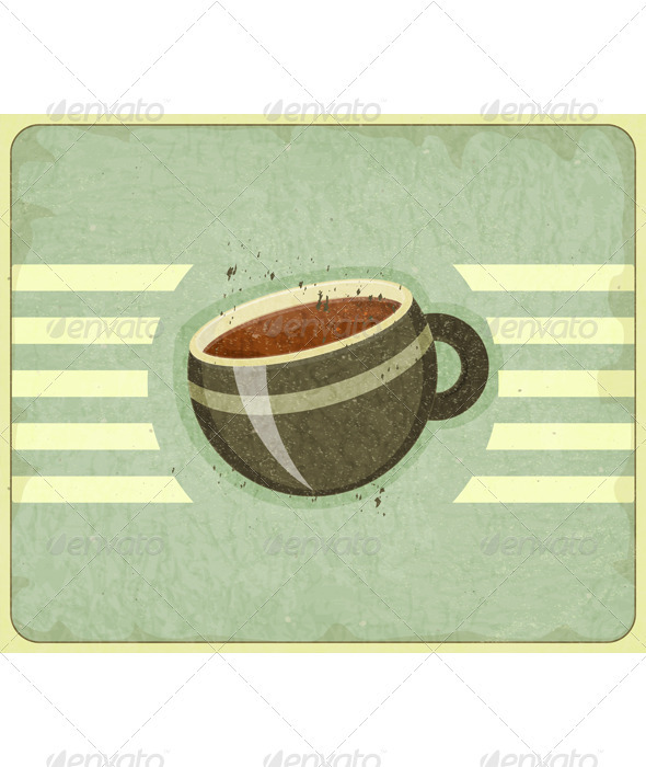 GraphicRiver Retro Cover for Coffee Menu 3478419
