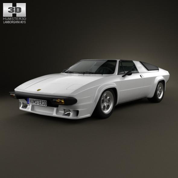 3DOcean Lamborghini Silhouette P300 1976 3479036