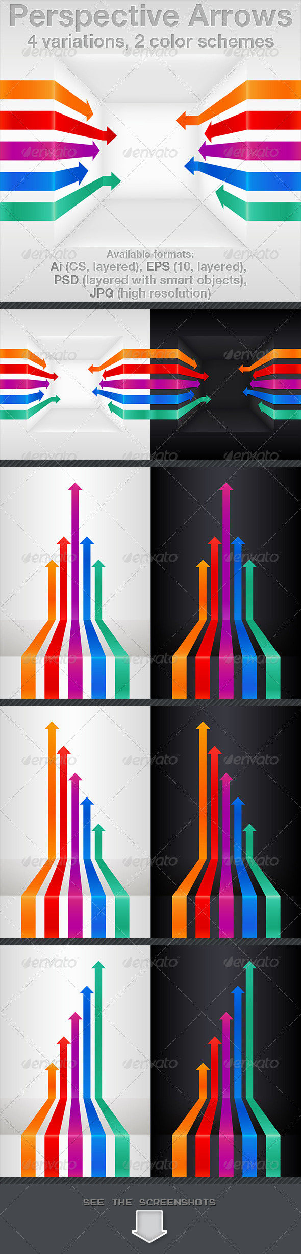 GraphicRiver Perspective Arrows 3473969