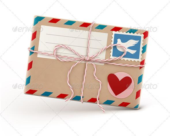 GraphicRiver Retro Airmail Envelope 3479242