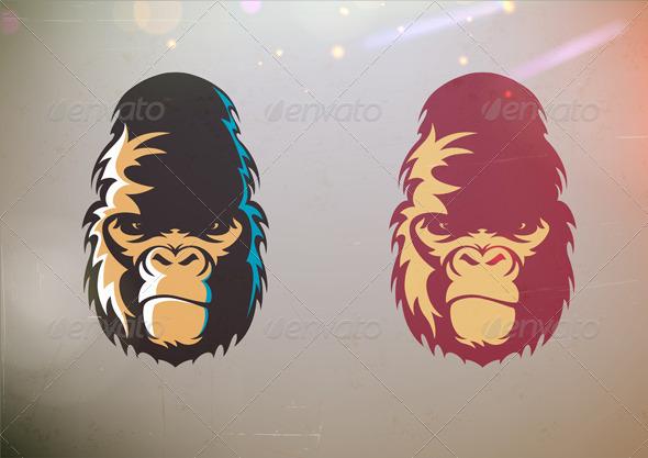 GraphicRiver Gorilla Smirk Face 3479304