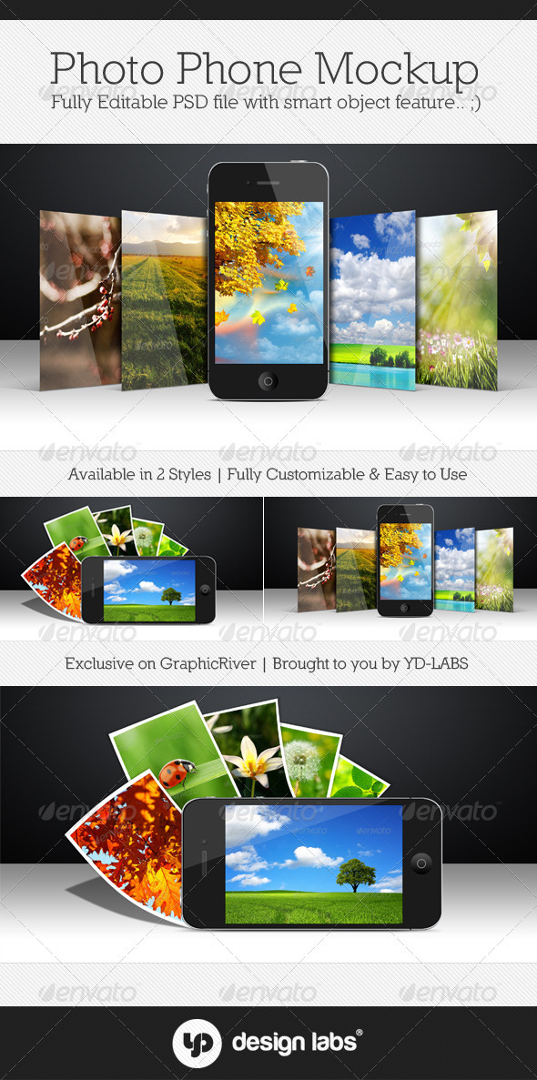 GraphicRiver Photo Phone Mockup 3479398