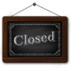 Closed Sign On Green And Black Chalkboards - GraphicRiver Item for Sale