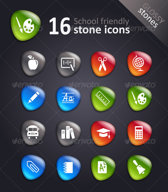 Cool School Stone Symbols - Decorative Symbols Decorative
