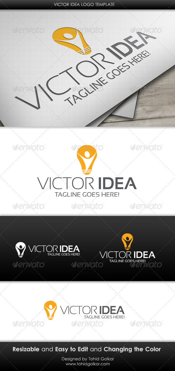 Victor Idea Logo Template - Humans Logo Templates