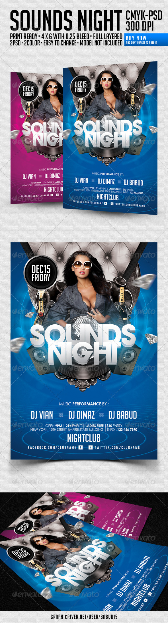 Sounds Night Flyer Template - Events Flyers