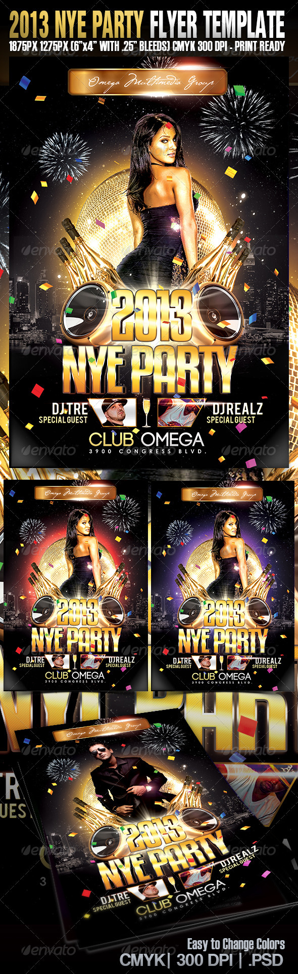 NYE13 - Events Flyers