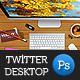 Twitter Desktop - GraphicRiver Item for Sale